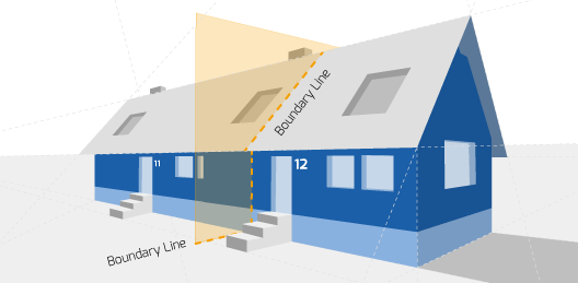 Party Wall illustration for Solihull